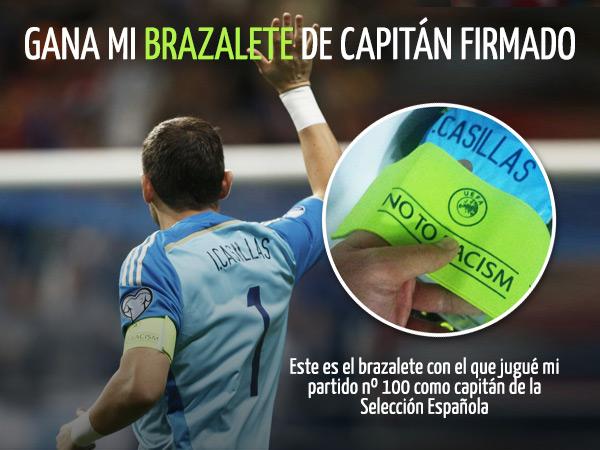 Gana el brazalete de capitán firmado de mi partido nº100 como capitán de la Selección Española